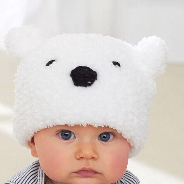 детская плюшевая шапка спицами