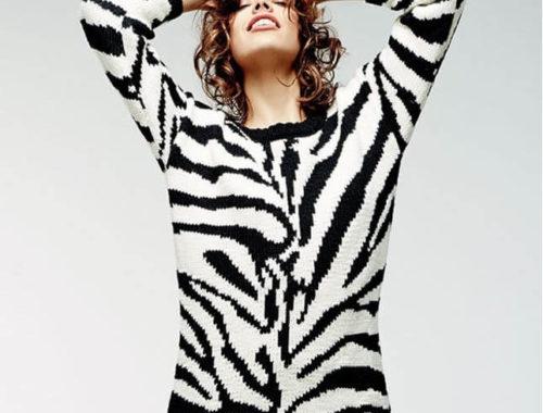 пуловер жаккардовым узором