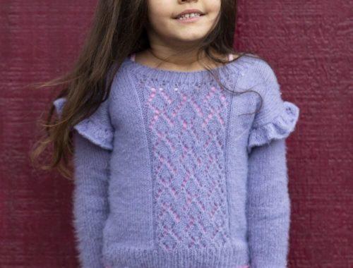 детский пуловер с оборками