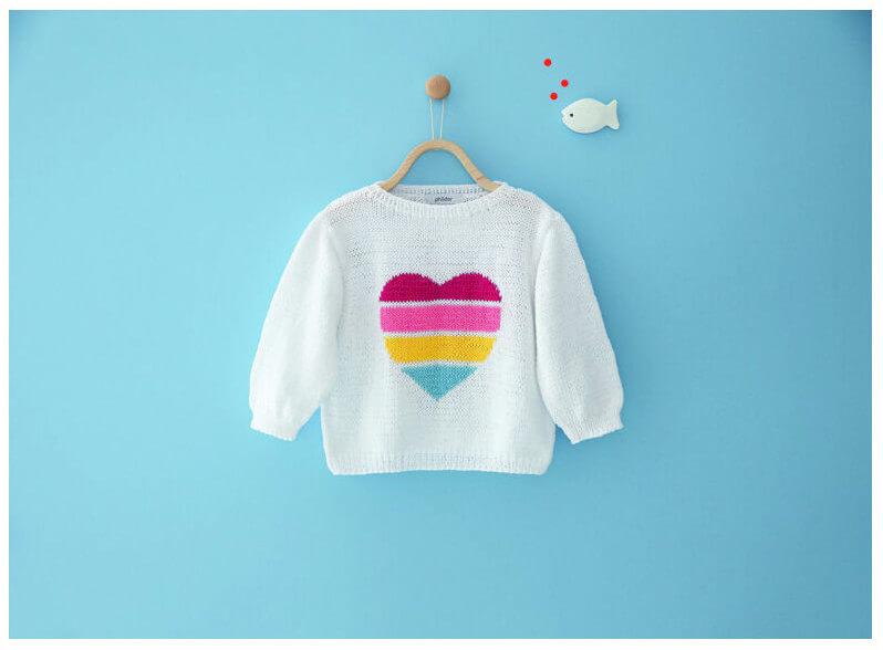 детсвий свитер спицами сердце