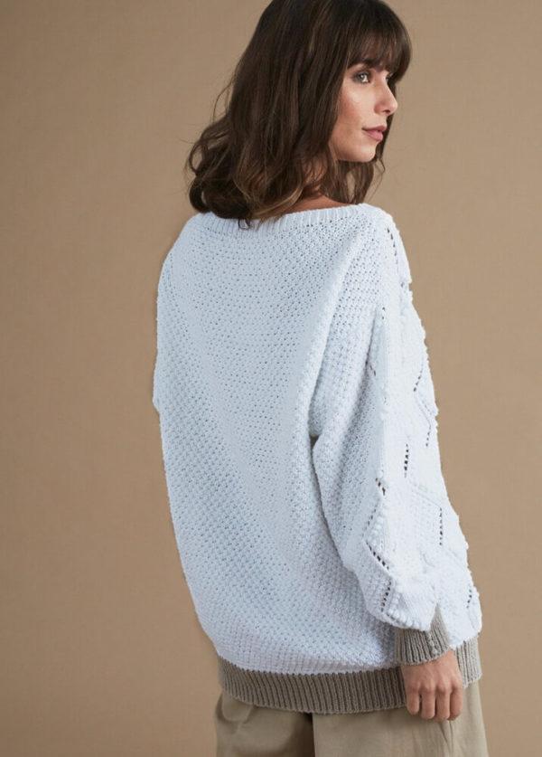 свитер с ромбовидным узором-1