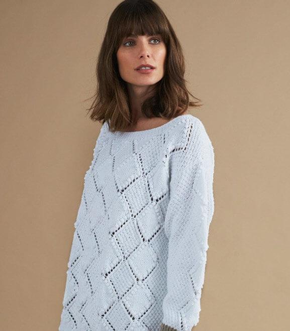 свитер с узором аргайл барра