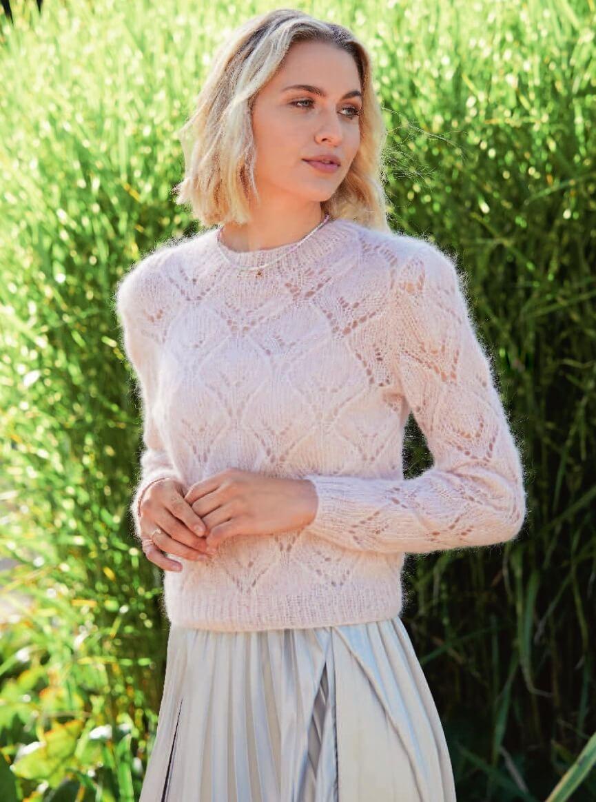 ажурный пуловер из альпака