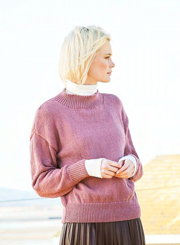 свитер с круглой горловиной