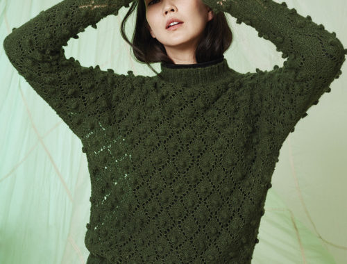 стильный ажурный свитер
