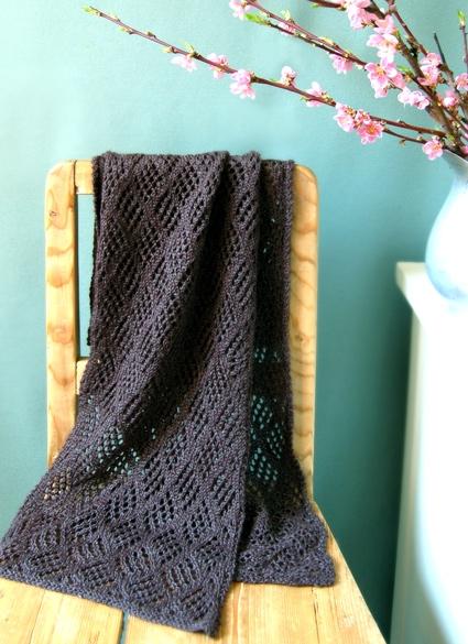 кружевной шарф альпака