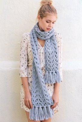 кружевной шарф спицами